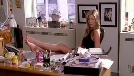 Jennifer Aniston's feet on 30 Rock (Loop)